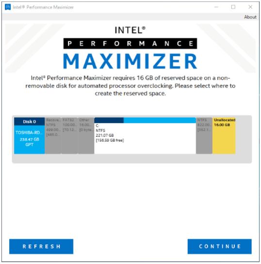 Intels Performance Maximizer – Optimierungsprozess 3 von 7