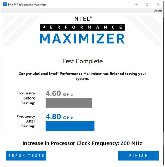 Intels Performance Maximizer – Optimierungsprozess 7 von 7