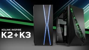 Kolink Inspire K2 & K3: Schmale µATX-Tower mit RGB und Glas kosten 35 Euro