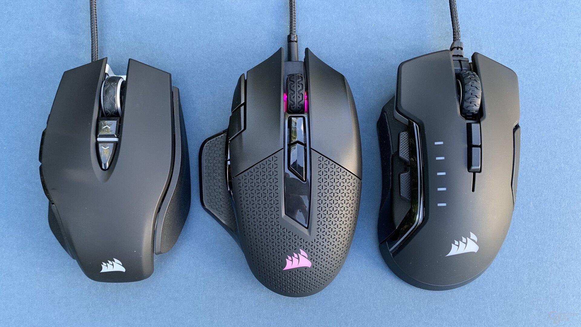 Corsair M65 RGB Elite, Nightsword RGB und Glaive RGB Pro