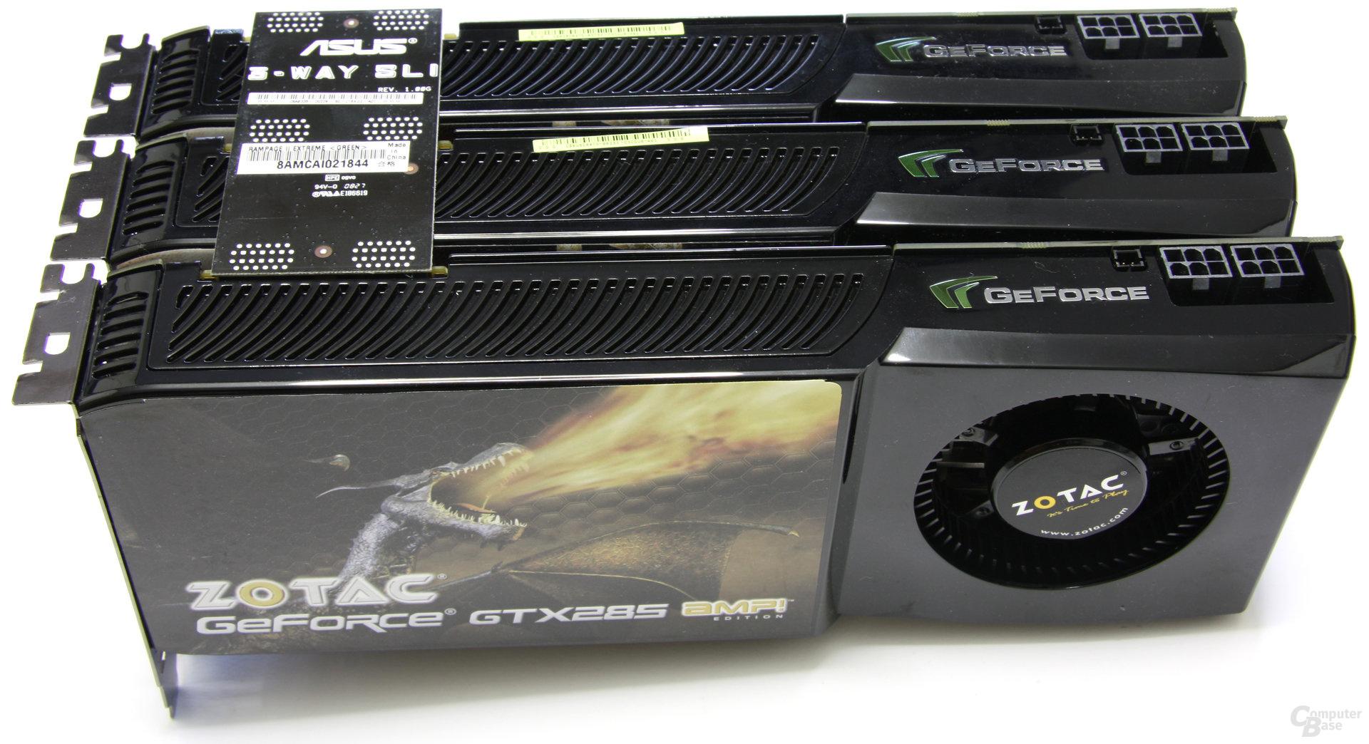 3-Way-SLI mit 3x Nvidia GeForce GTX 285