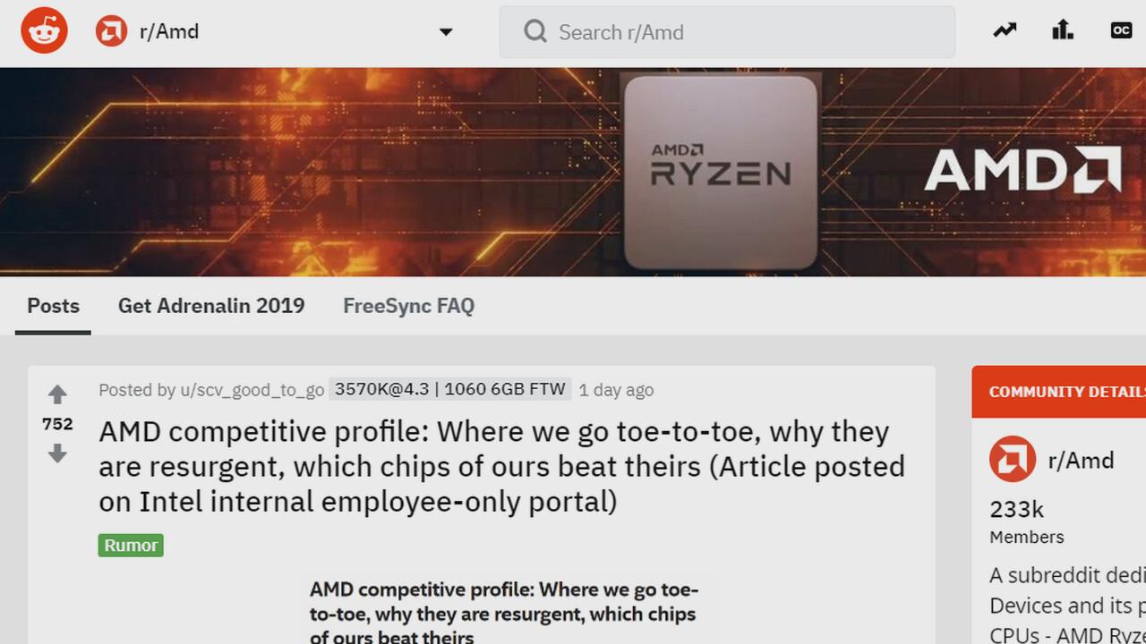 Intel an Mitarbeiter: Größter Konkurrenzdruck durch AMD seit Jahren