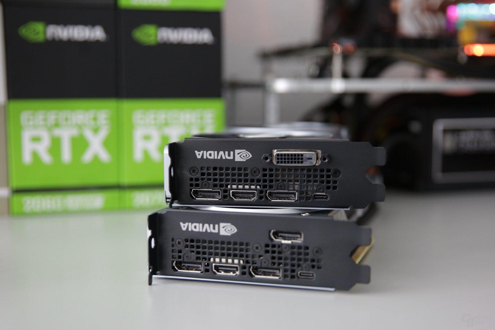 DVI gibt es weiterhin nur bei der GeForce RTX 2060 Super