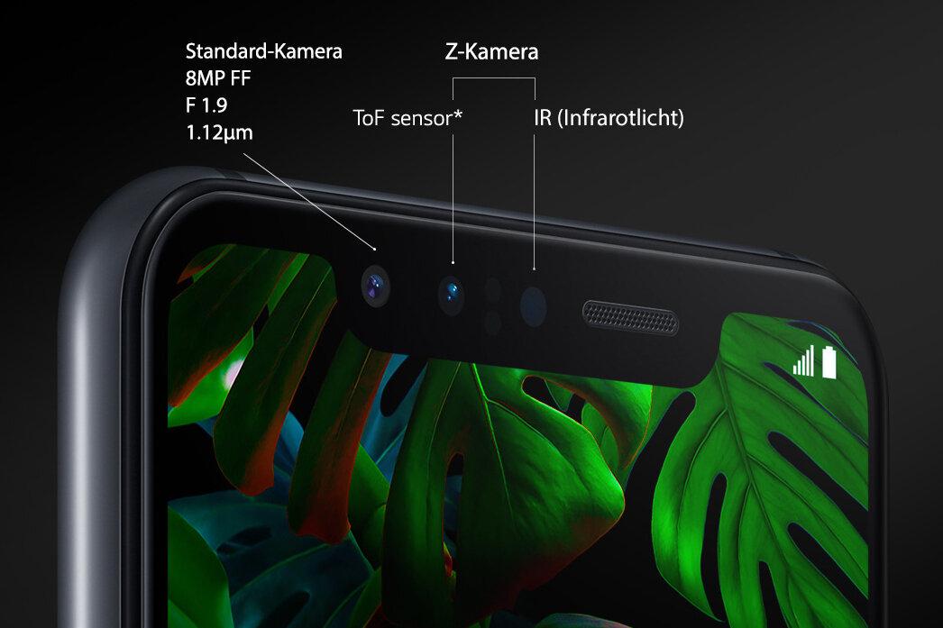 ToF-Sensor und Infrarotlicht nennt LG Z-Kamera