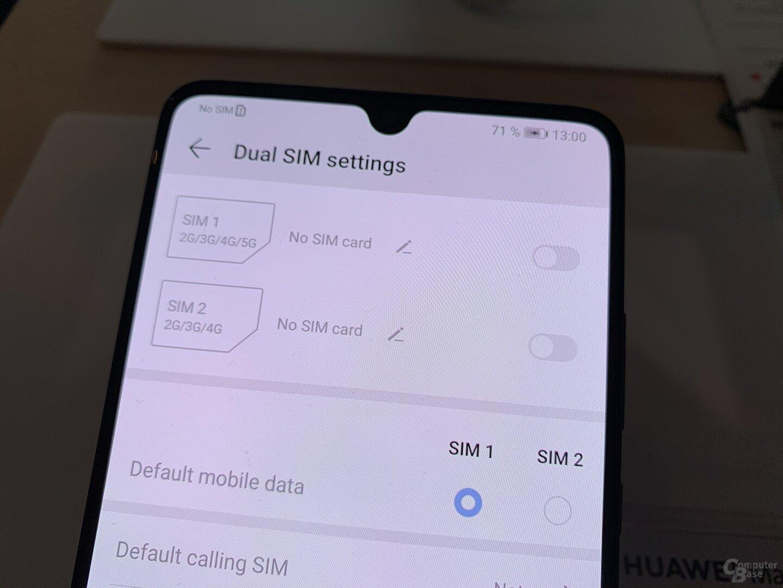 Dual-SIM-Funktion des Huawei Mate 20 X 5G