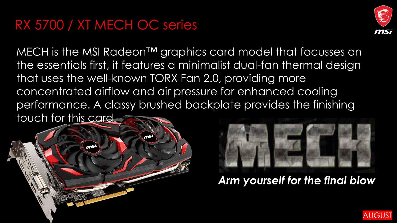 MSI Radeon RX 5700 (XT) der Serie Mech OC