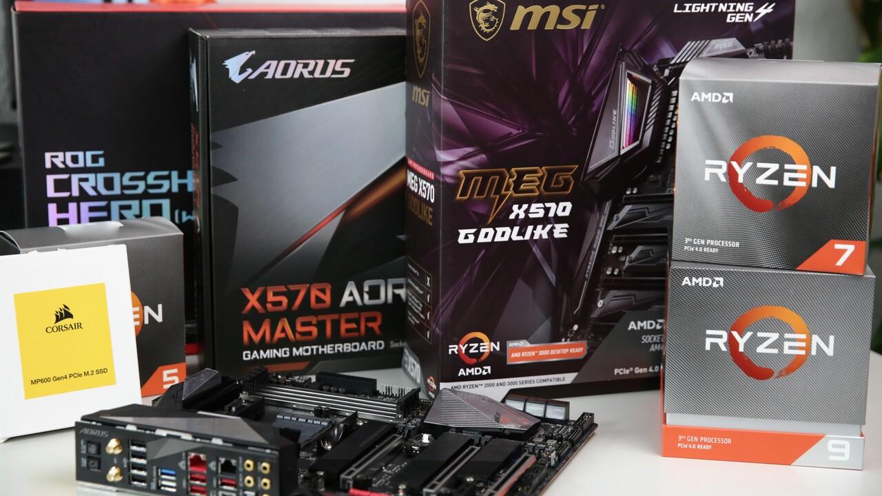Marktcheck: Neun AMD-X570-Mainboards bereits unter 200 Euro