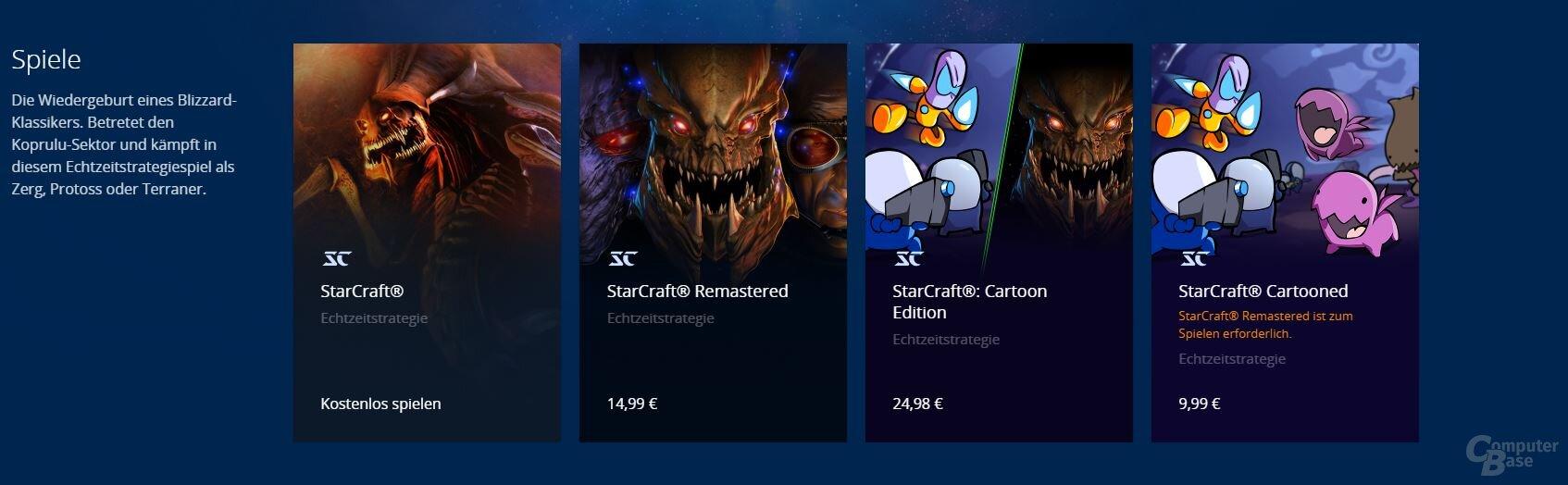 StarCraft: Preisübersicht