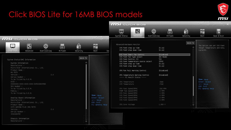 MSI Click BIOS Lite (16 MB)