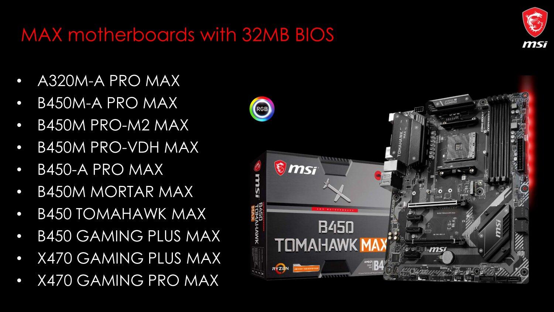AM4-Mainboards: MSI bringt Neuauflagen mit 32-MB-BIOS für