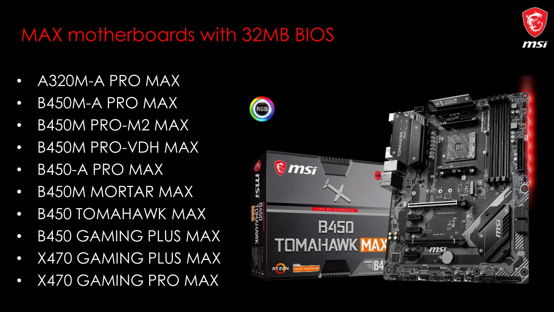 "Neuauflage: ""Max""-Mainboards mit 32 MB BIOS"