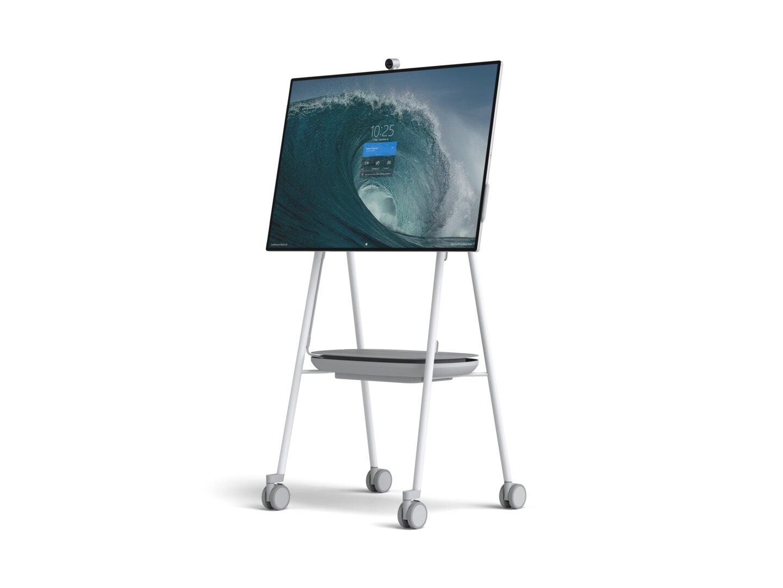 Surface Hub 2S auf Stand von Steelcase
