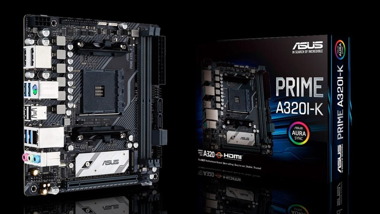 Mini-ITX-Mainboard: Asus bringt erste Platine mit A320-Chipsatz für 99 Euro
