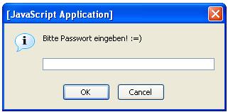 Javascript-Eingabeaufforderung
