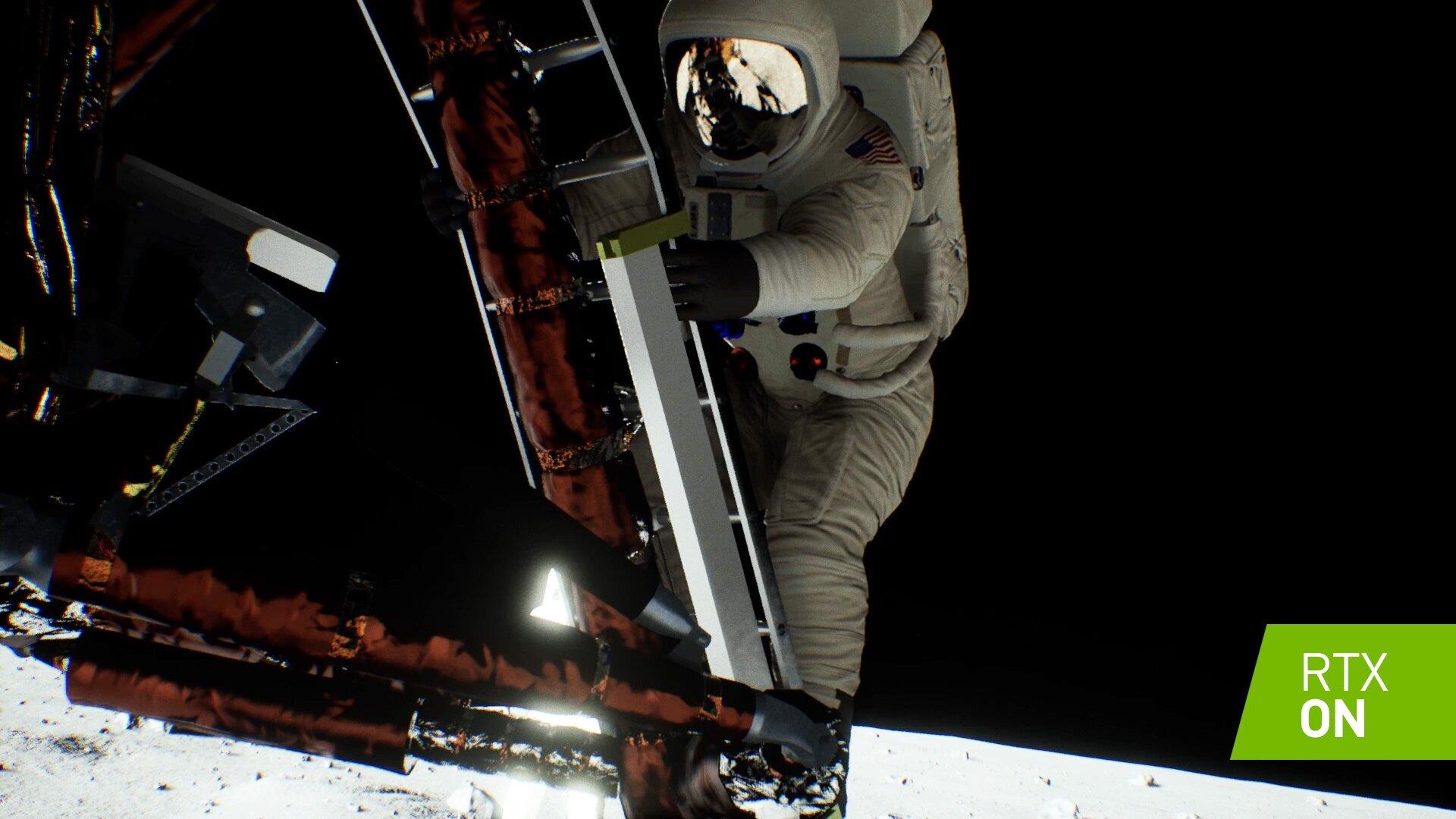 Interne Raytracing-Demo zur Mondlandung von Apollo 11