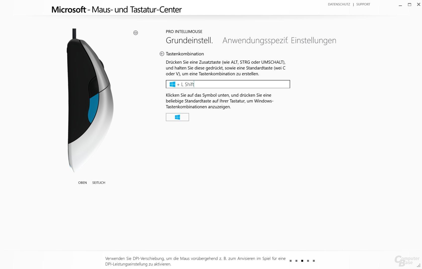Microsoft Maus- und Tastatur-Center