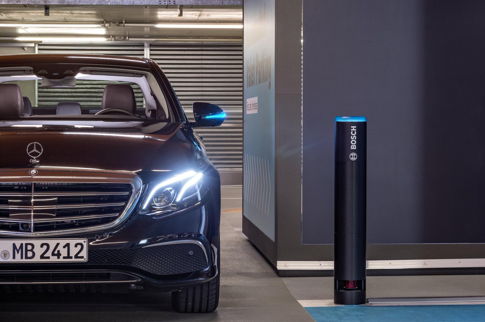 Automated Valet Parking im Mercedes-Benz Museum in Stuttgart