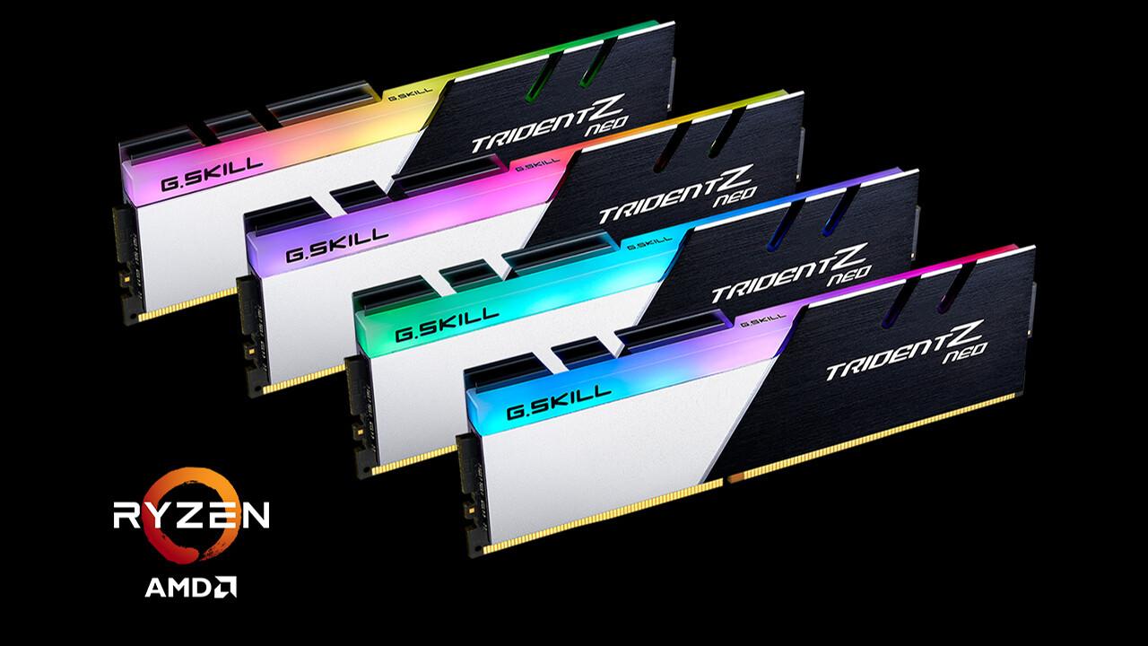 RAM für Ryzen 3000: G.Skill bietet DDR4-3800 mit CL14 bei 1,5 Volt ab Werk