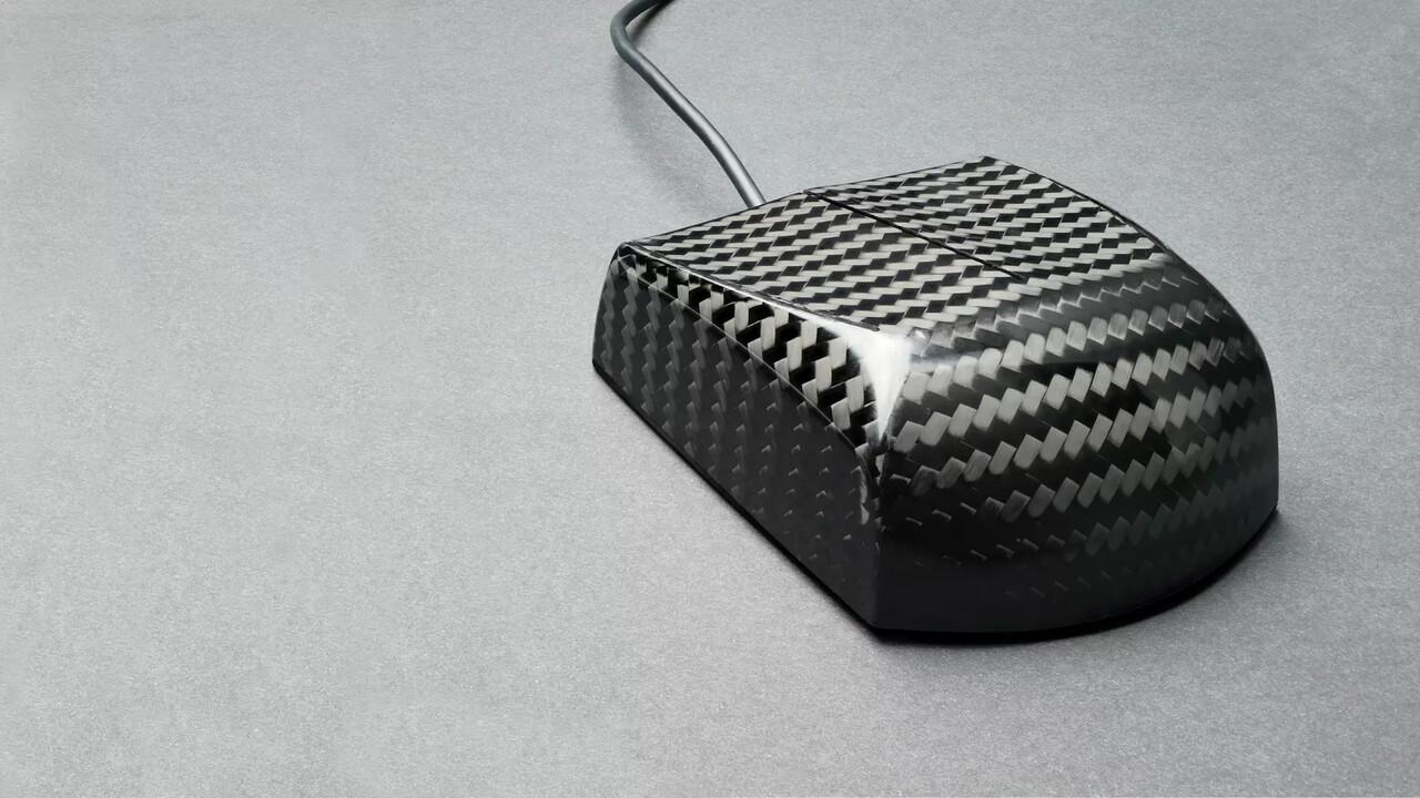 Zaunkoenig M1K: Puristische Kohlefaser-Maus wiegt nur 23 Gramm