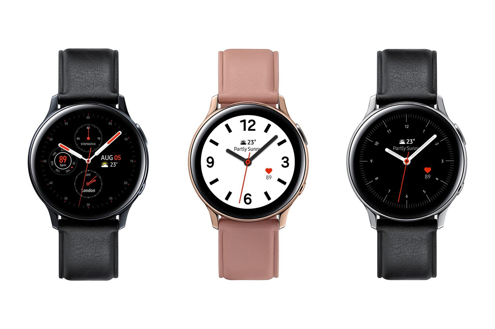 Galaxy Watch Active 2 in Edelstahl mit 44mm