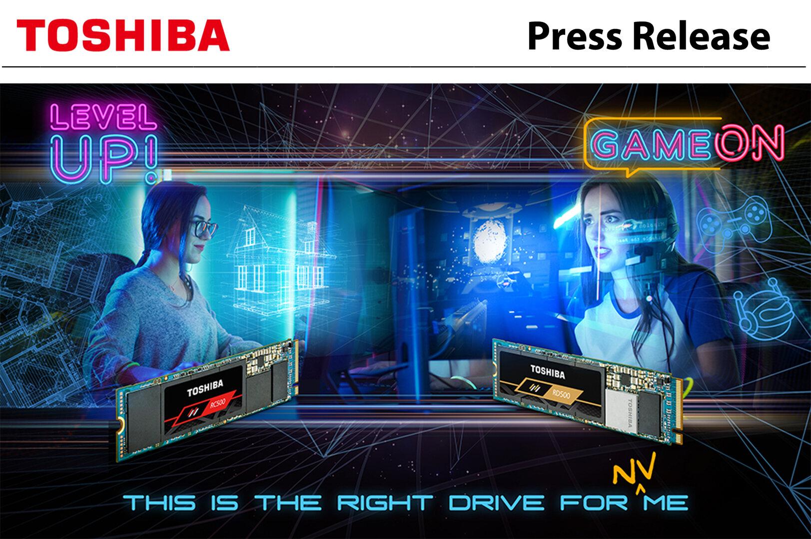 Gamer im Fokus: Werbebild für Toshiba RD500 und RC500