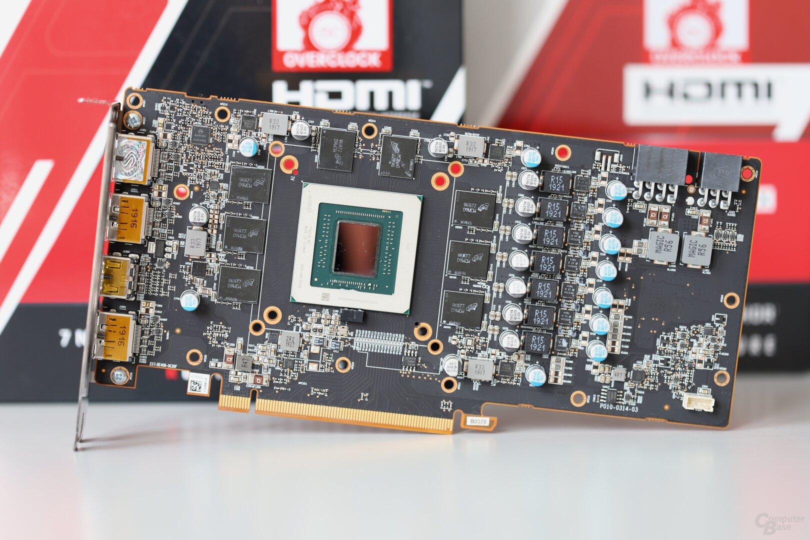 Das PCB der Sapphire Radeon RX 5700 (XT) Pulse