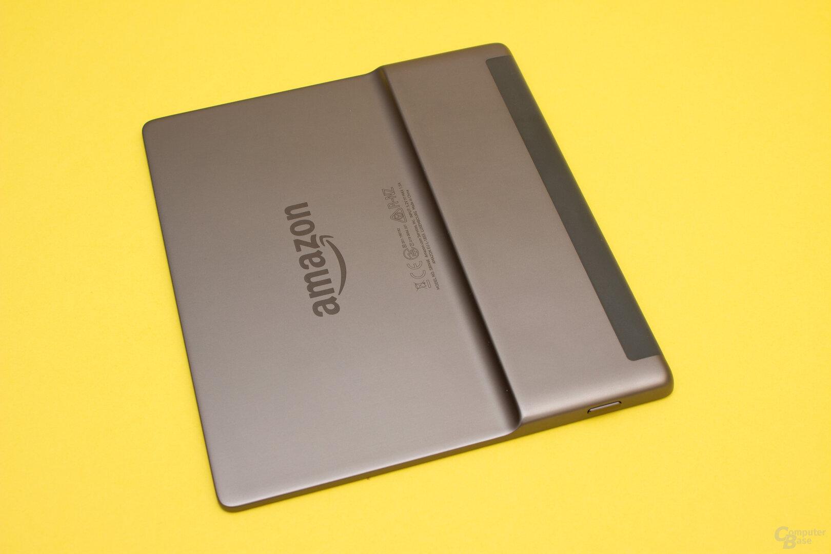Der Kindle Oasis 2019 ist erneut aus Aluminium gefertigt