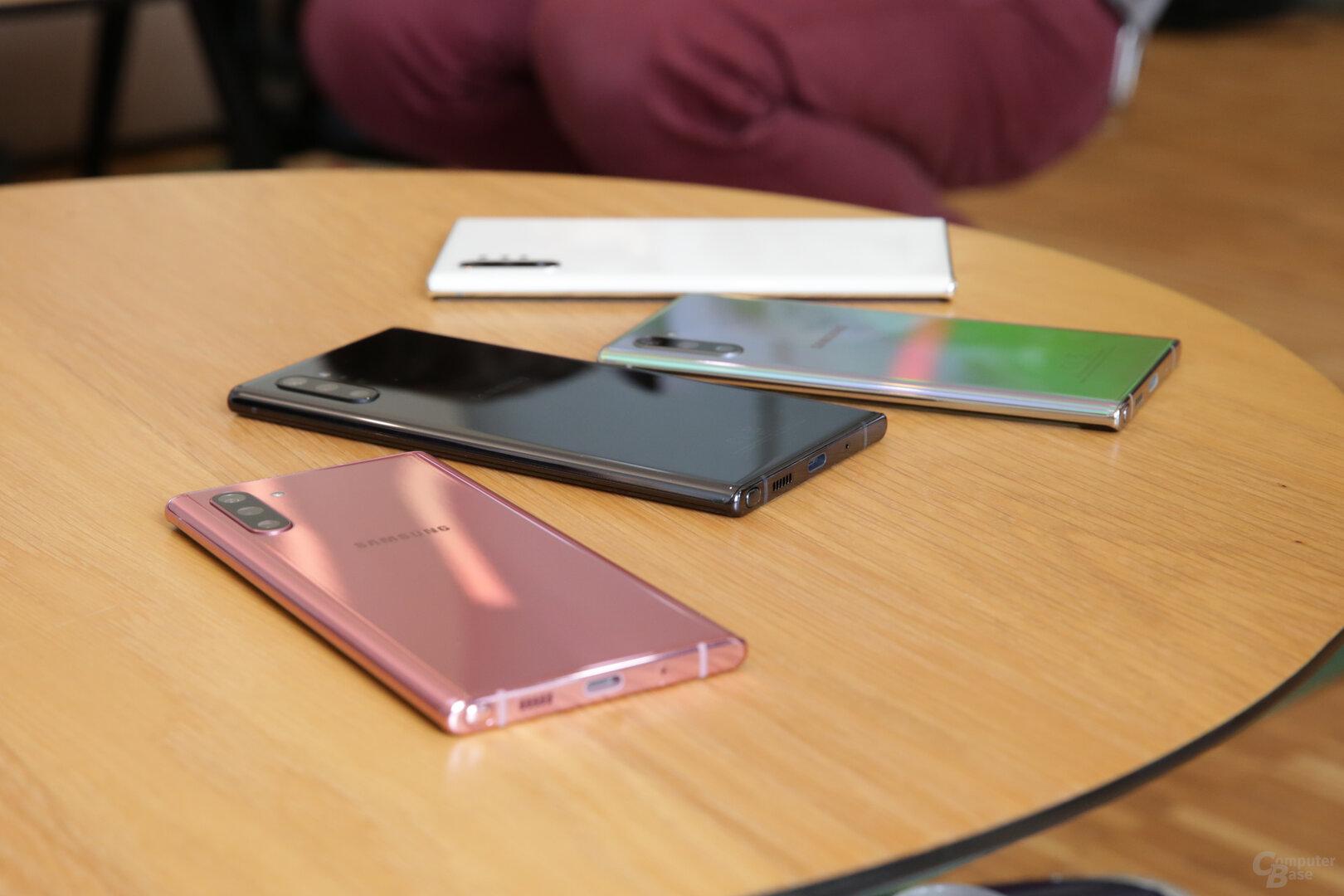 Farben des Galaxy Note 10 im Überblick