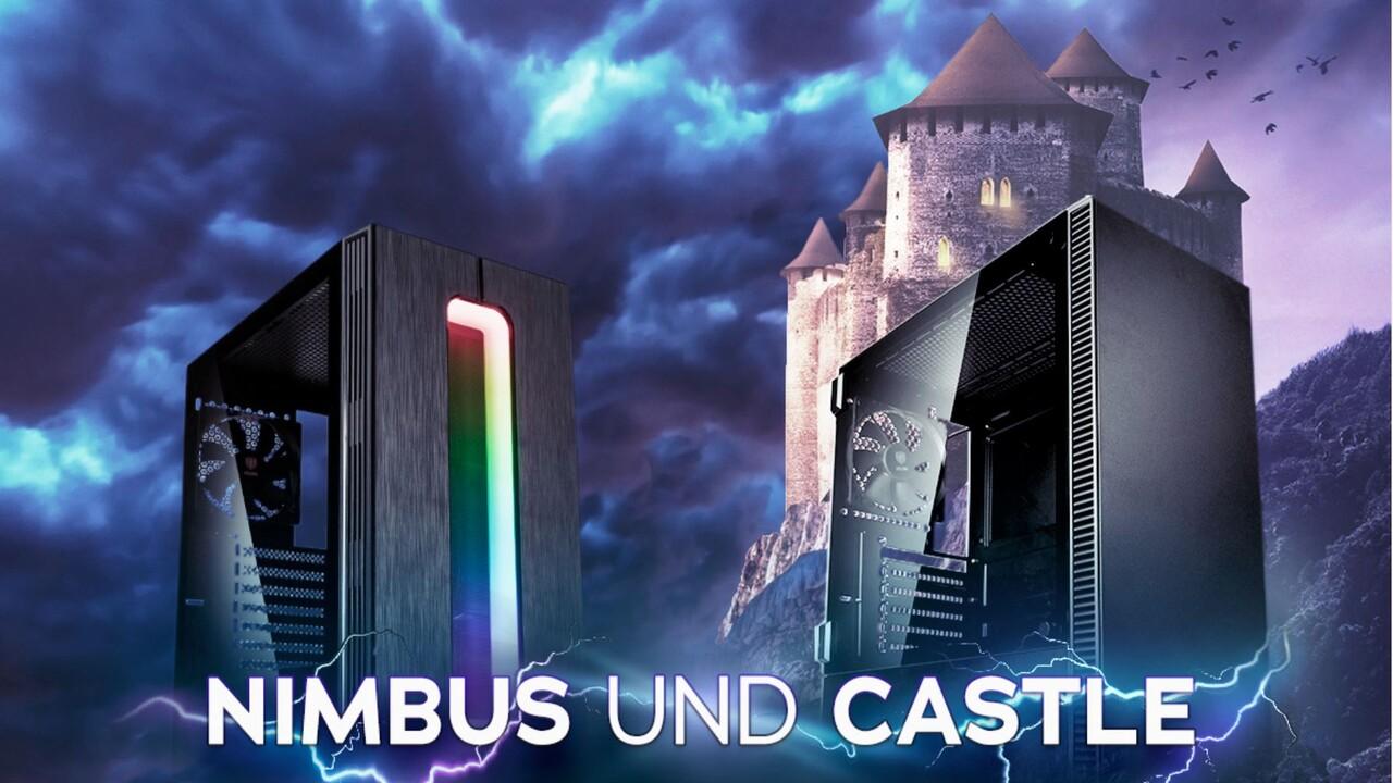 Midi-Tower Nimbus & Castle: Kolink lässt zwischen Platz und RGB wählen