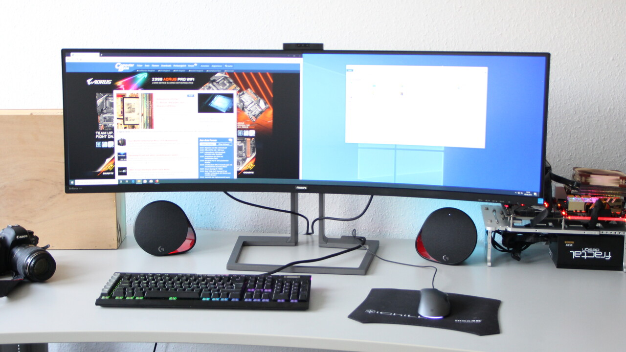 Philips 499P9H im Test: Der beste 32:9-Allrounder mit 5.120 × 1.440 Pixeln auf 49 Zoll