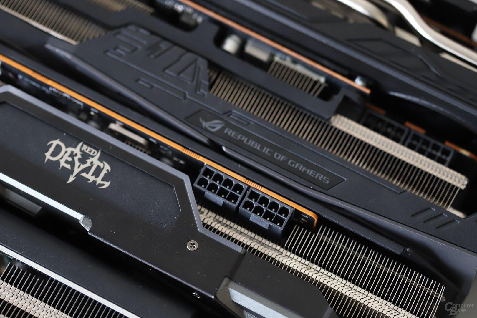 Red Devil und Strix OC bieten zwei Mal 8-Pin-PCIe