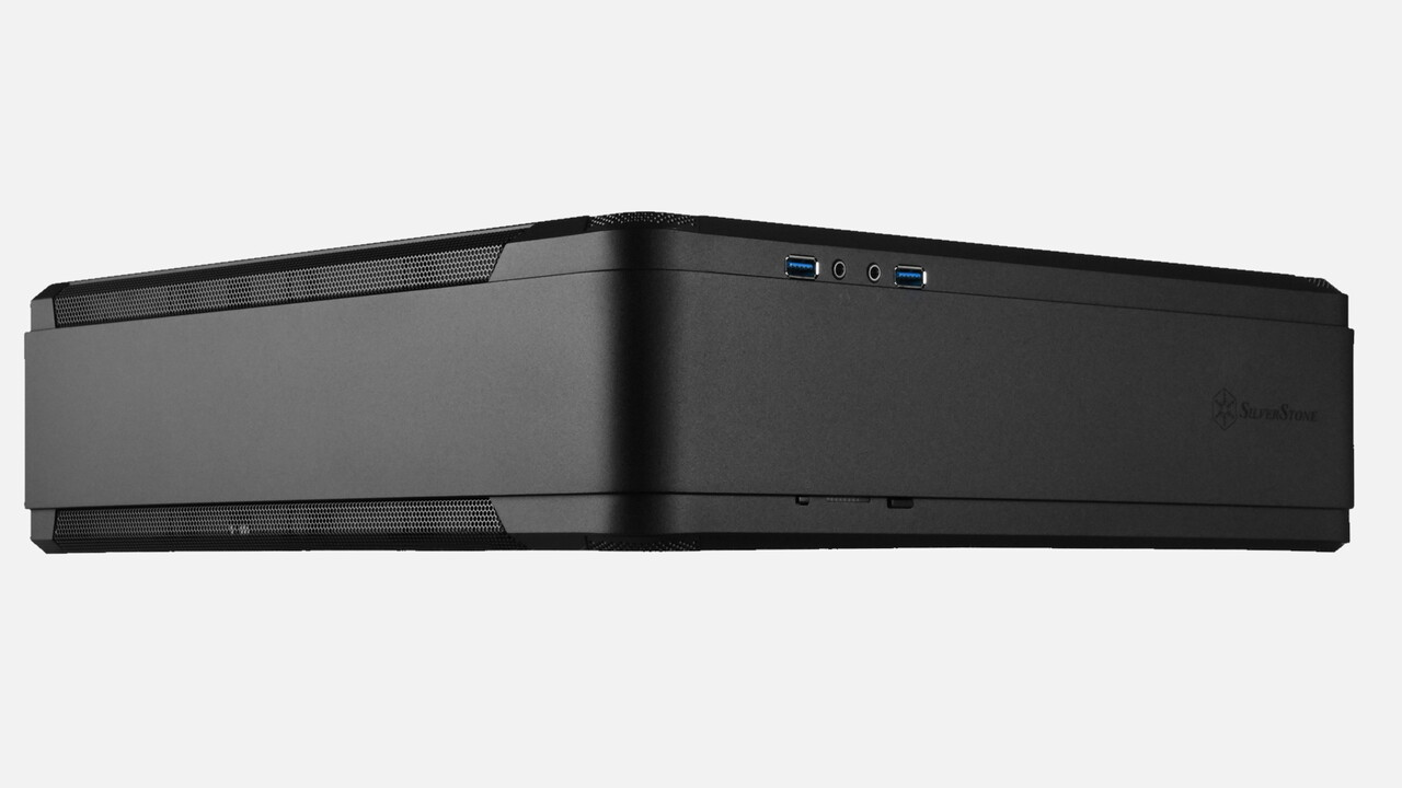 Silverstone FTZ01-E: Konsolengehäuse für den PC schluckt ATX-Netzteil
