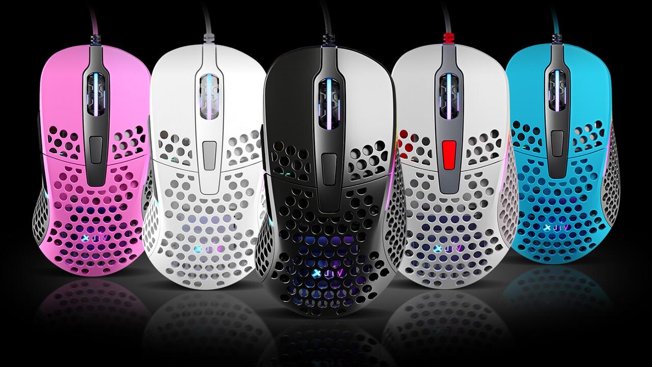 Xtrfy Project 4: Gelochte Rechtshänder-Maus hüllt sich in fünf Farben