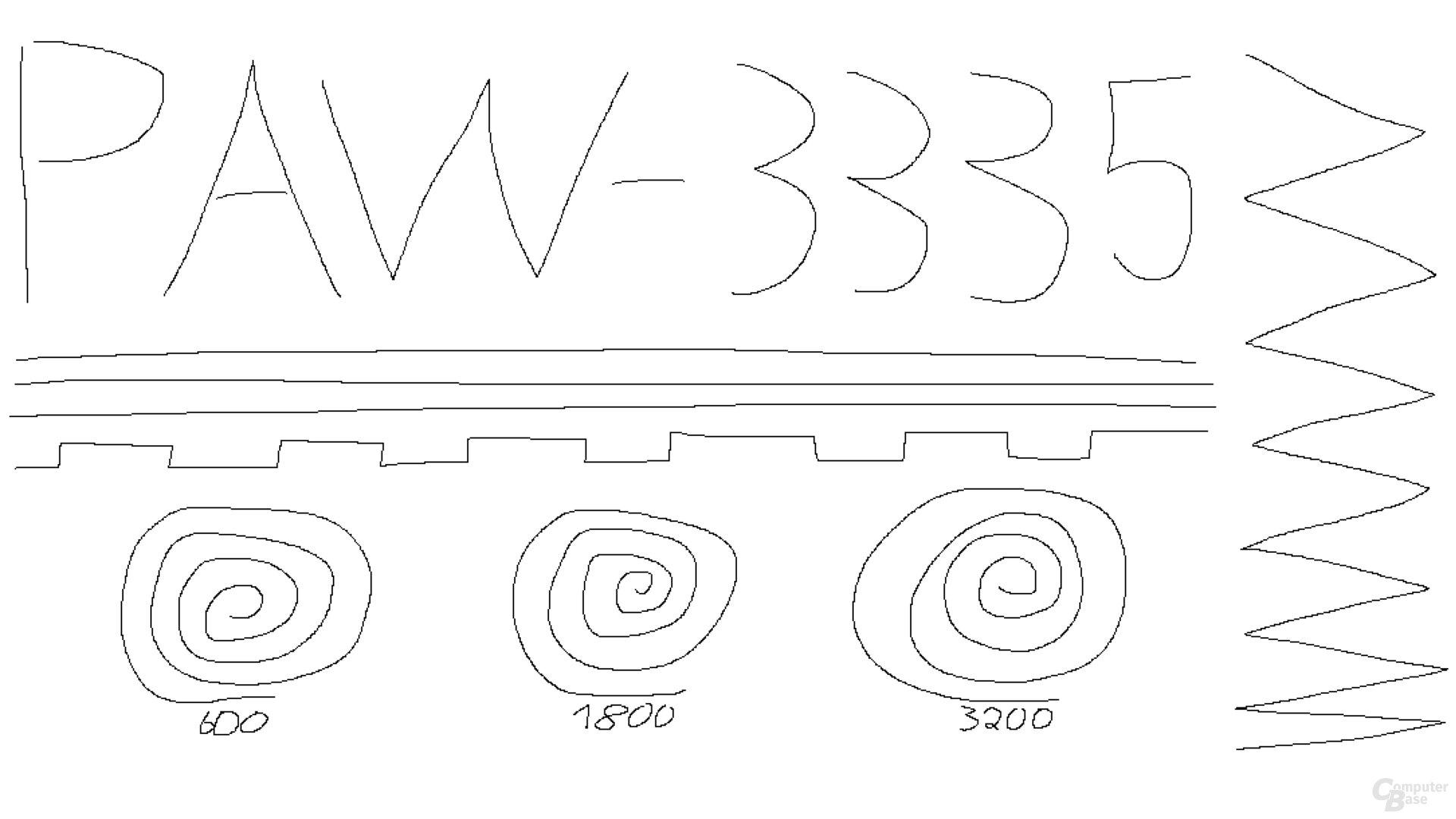 PixArt PAW-3335 (1.000 Hertz, Mikrofaseruntergrund)