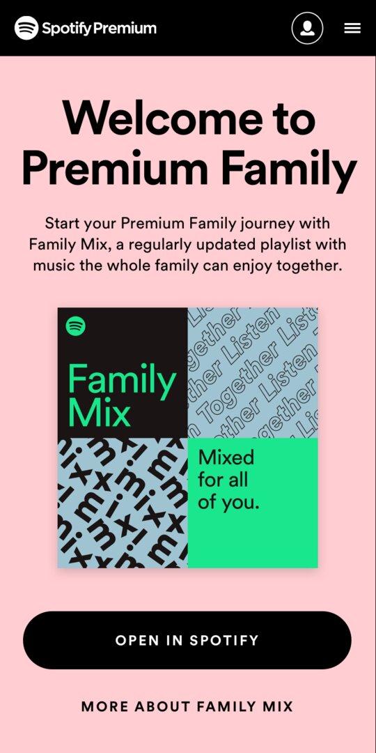 Spotify Family Mix Beitreten