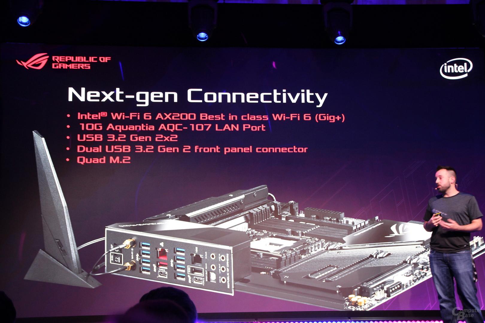 10-Gbit/s-LAN von Aquantia und Wi-Fi 6 von Intel gehören ebenso zur  Ausstattung ...