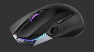 Asus ROG Chakram: Maus bietet Analogstick und 1.000 Stunden Akkulaufzeit