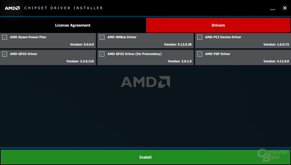 Der AMD-Chipsatztreiber 1.8.19.0915 kommt mit den gleichen Paketen wie sein Vorgänger.