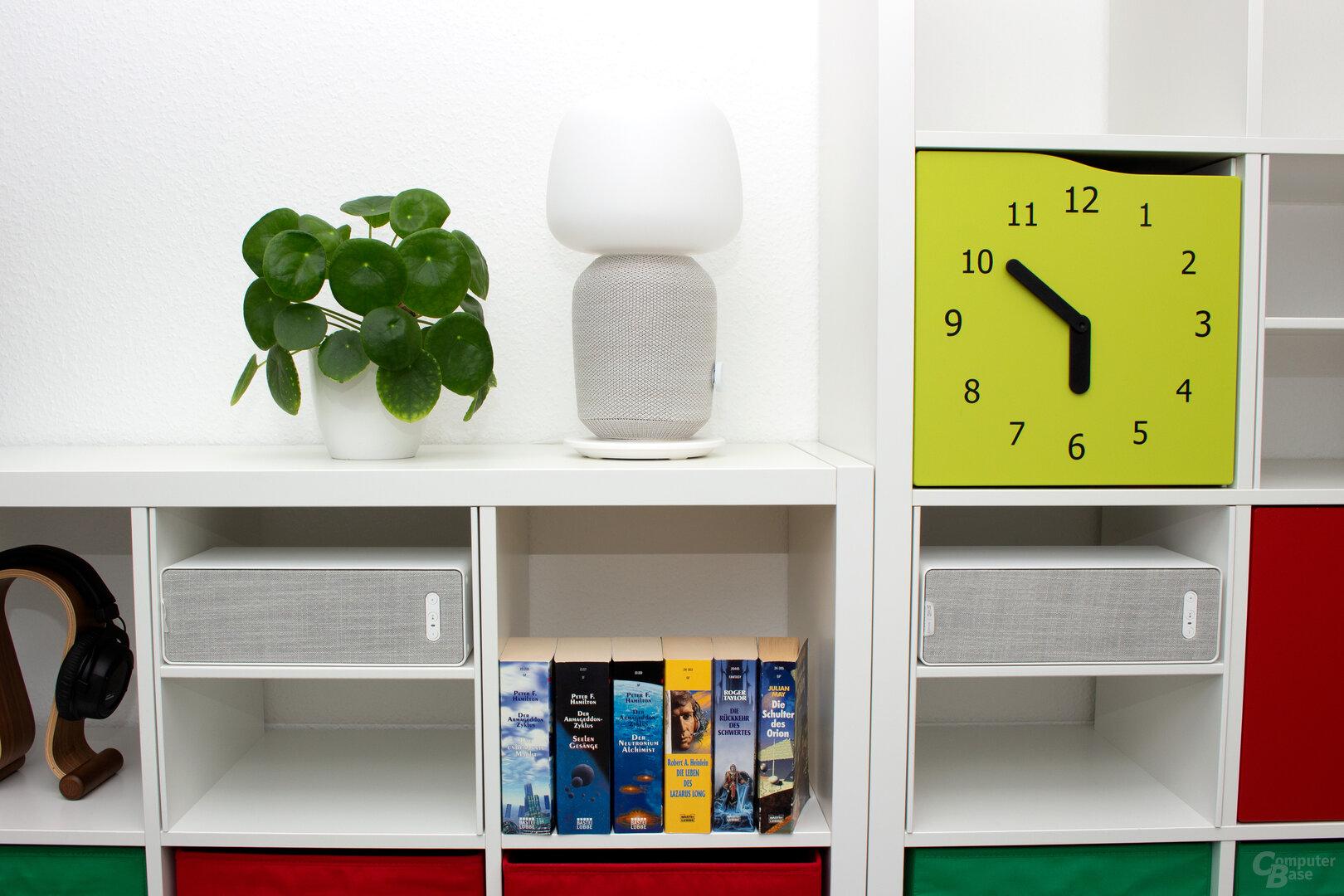 Die Symfonisk-Lautsprecher passen sich wie von Ikea gewohnt den eigenen Möbel nahtlos an