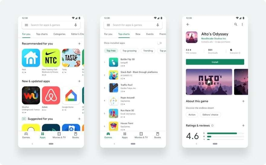 Google Play Store – Redesign