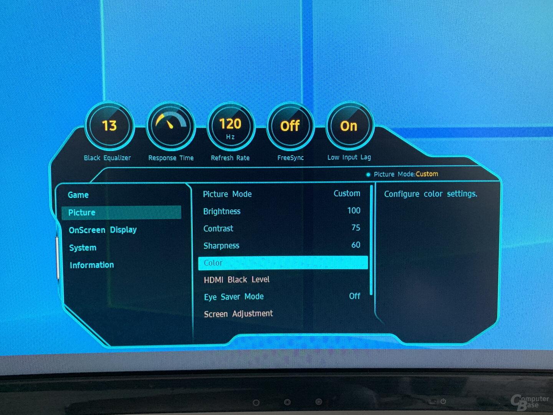 OSD des Samsung C49RG90