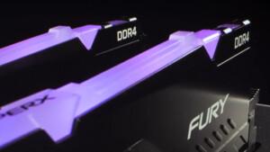 HyperX Fury DDR4 RGB: Leuchtende RAM-Serie bis DDR4-3466 und 64 GB