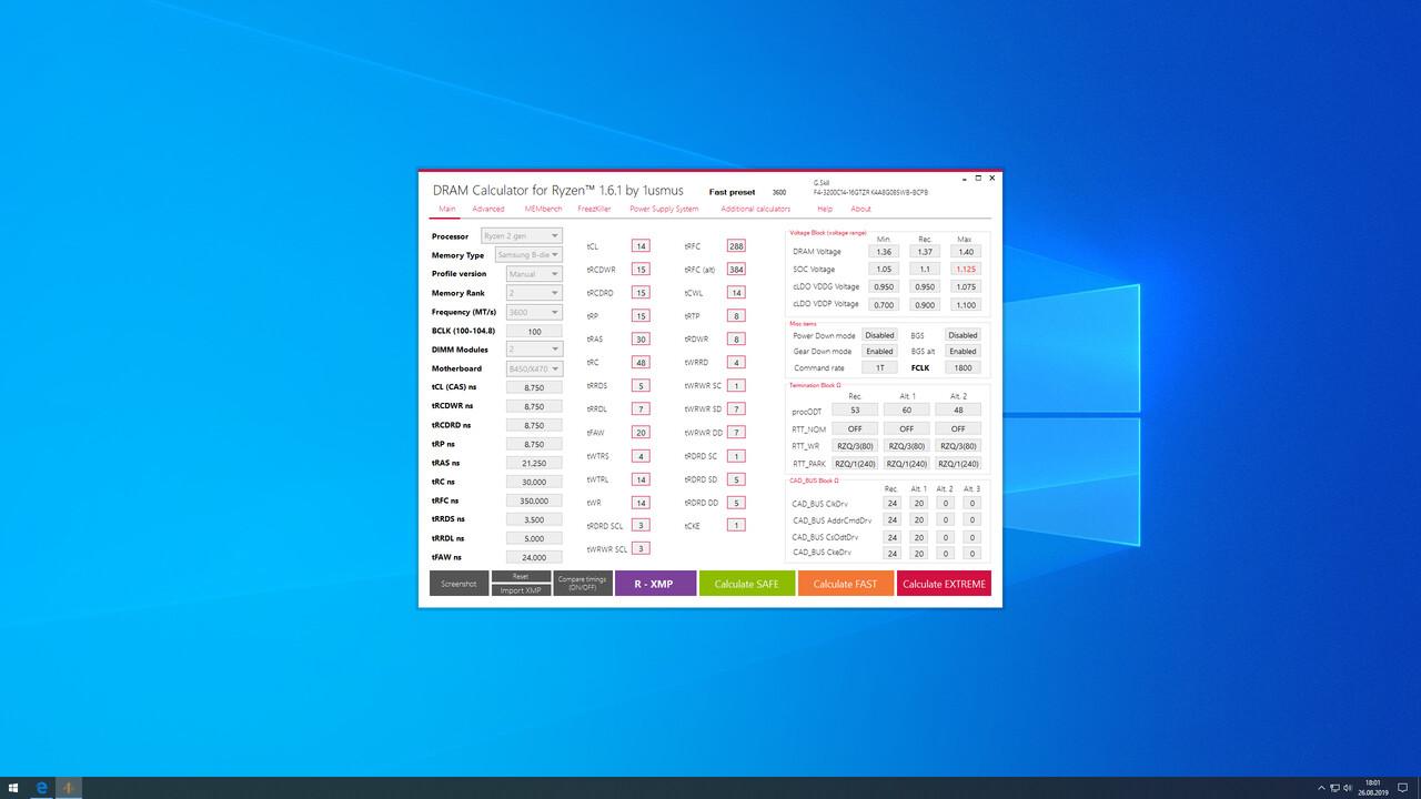 DRAM Calculator for Ryzen: Version 1.6.1 behebt Fehler und kommt mit FreezKiller