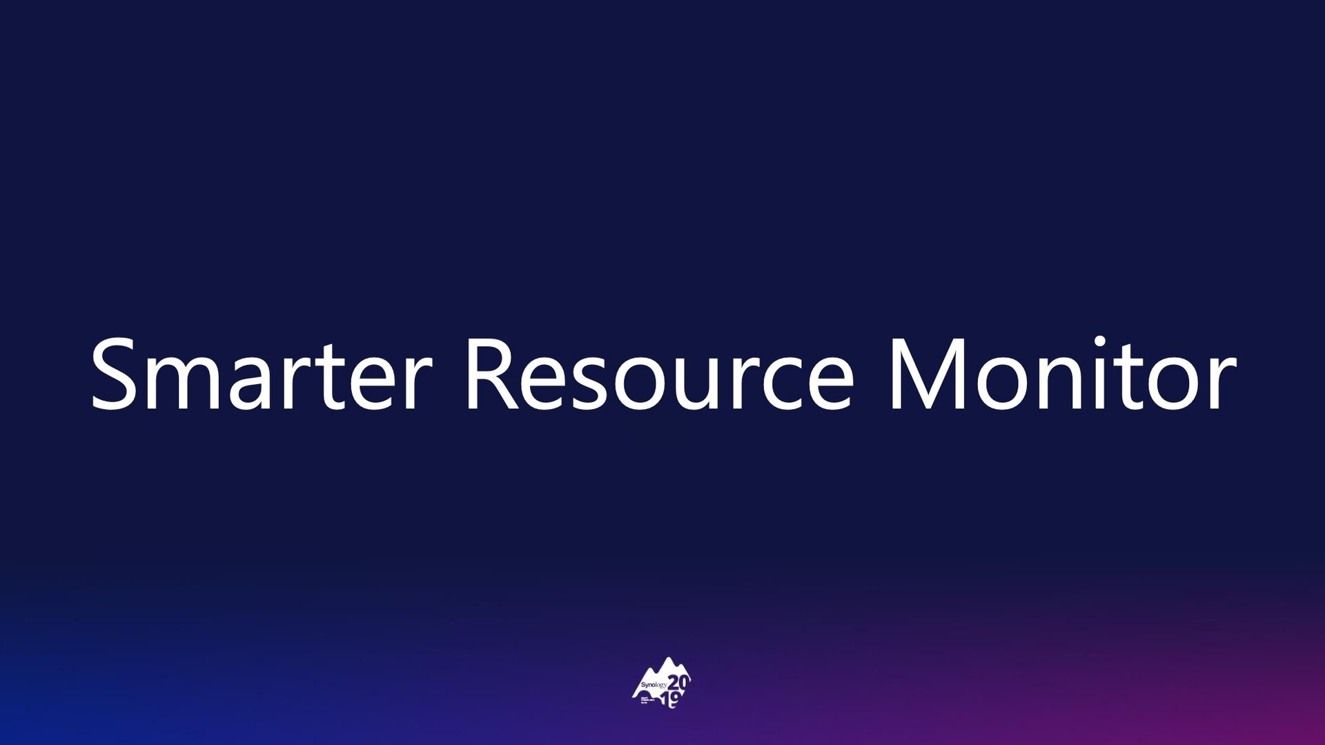 DSM 7.0: Resource Monitor