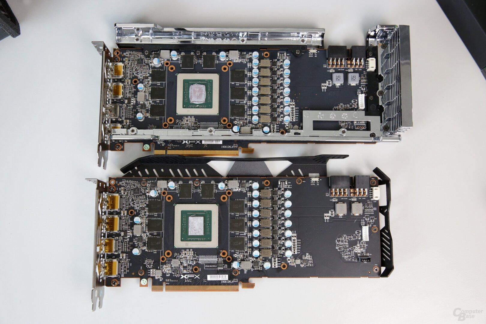 Das PCB von RAW2 (unten) und THICC2 (oben) ist quasi identisch