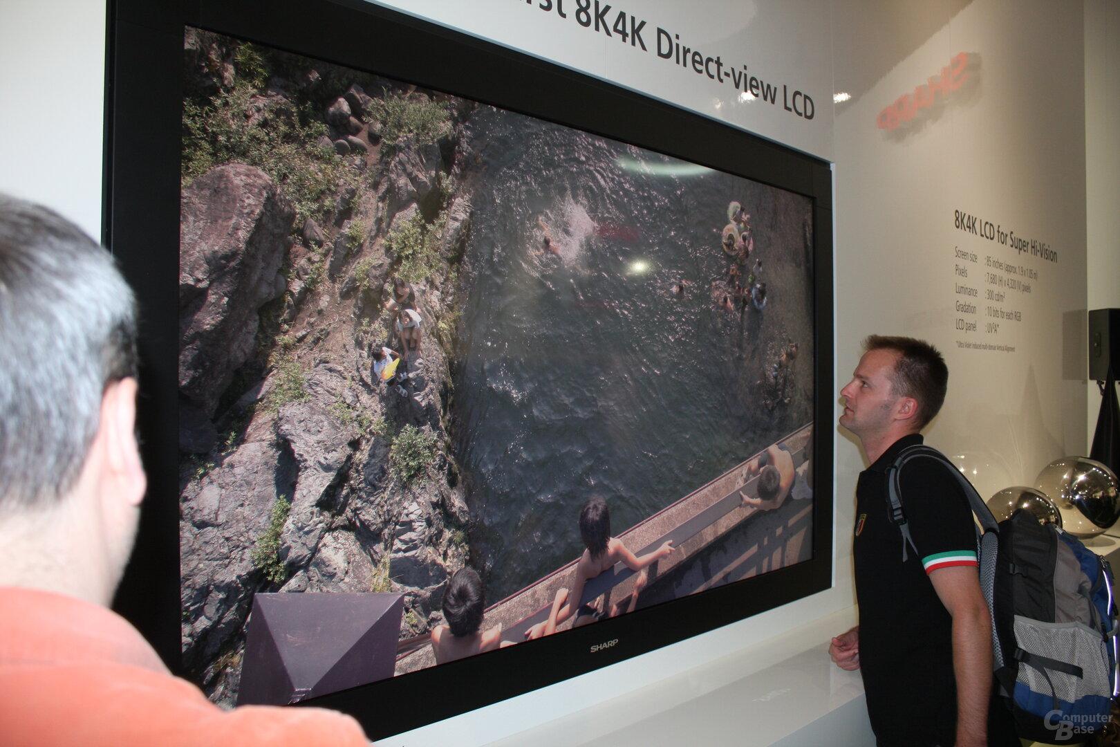 Sharps 8K-Fernseher mit 85Zoll zur IFA 2011