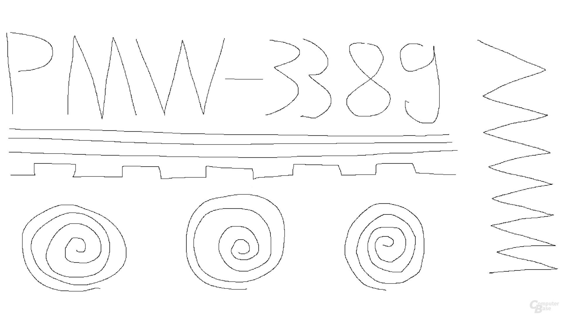 PixArt PMW-3389 (1.000 Hz, Mikrofaseruntergrund)