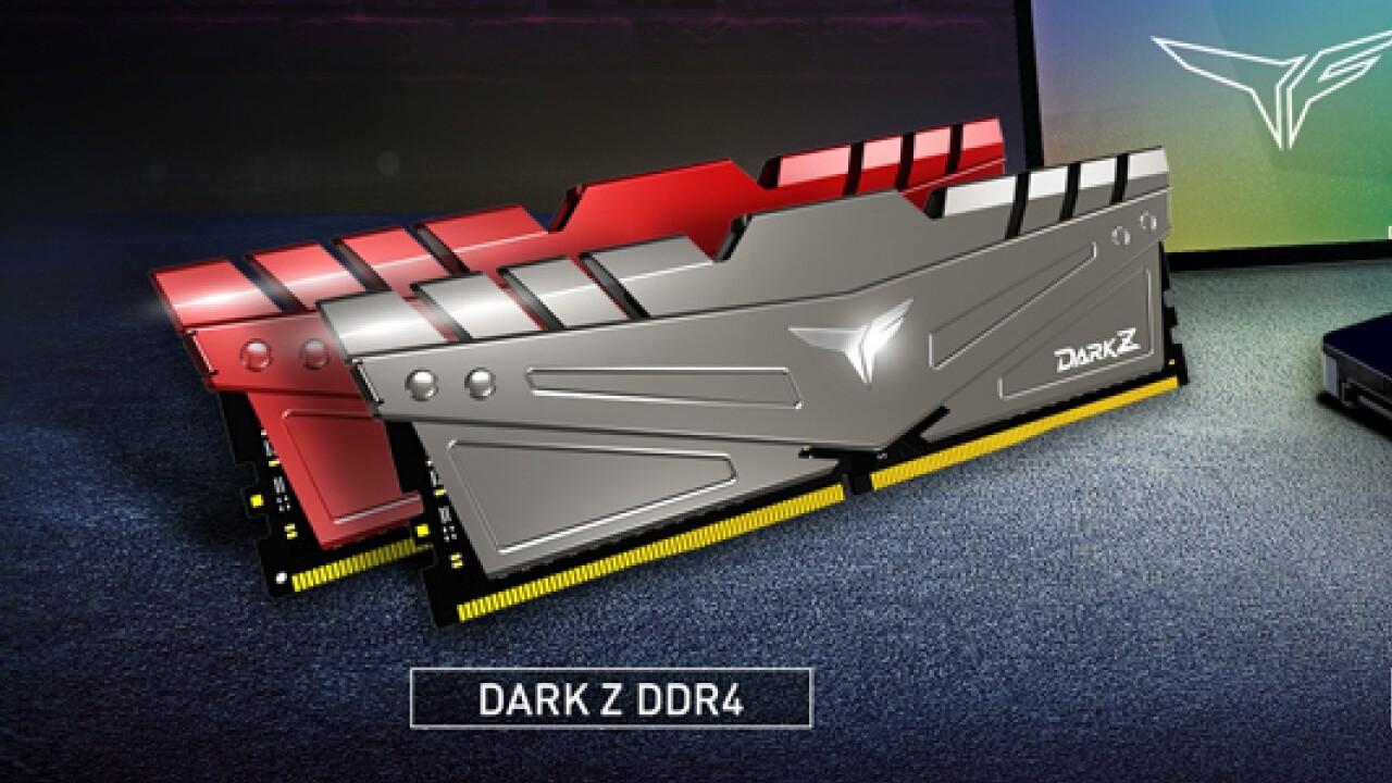 Team Group T-Force Dark Z: Bis DDR4-3600 in Silber und Rot ab September erhältlich