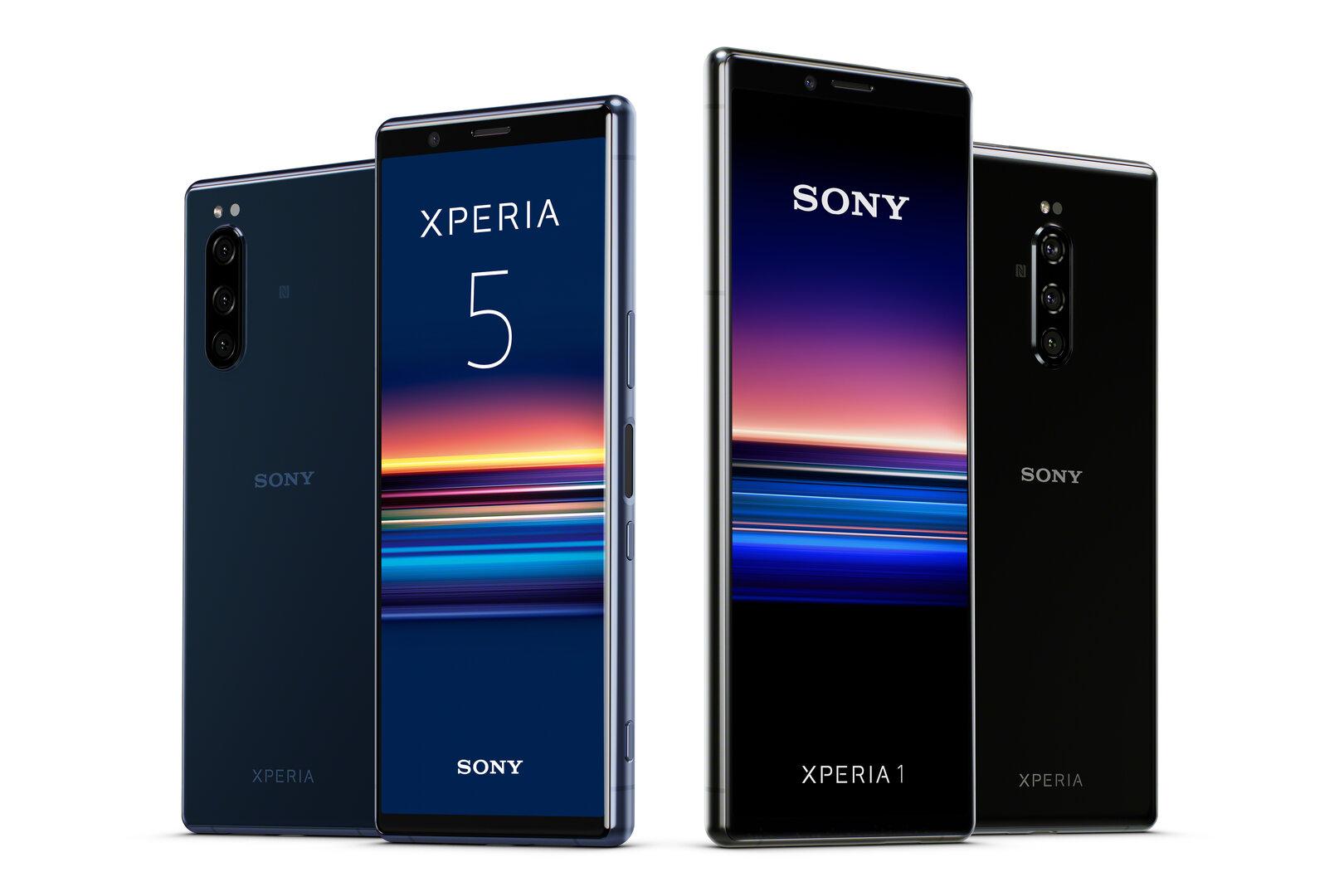 Sony Xperia 5 neben Xperia 1