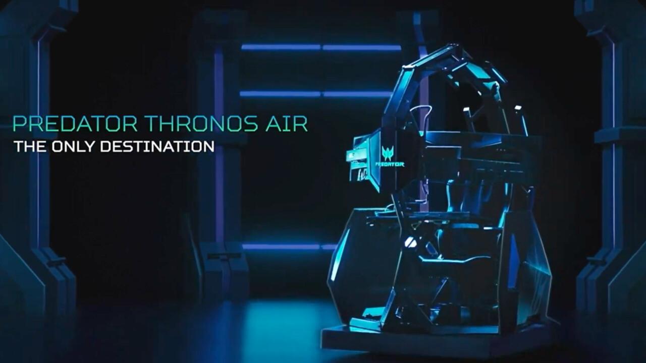Acer Thronos Air: Der Gaming-Thron für 14.000 USD massiert auch
